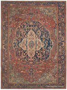 FERAHAN SAROUK - West Central Persian 8ft 10in x 11ft 10in Circa 1875