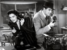 His Girl Friday (1940)  Director: Howard Hawks    Cast: Rosalind Russell, Cary Grant
