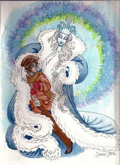 Kai and the Snow Queen by almightystarfish.deviantart.com on @deviantART