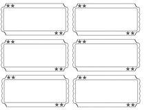 printable raffle tickets blank kids - Google Search