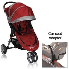 Baby Jogger City Mini Stroller in Crimson with Car Seat Adapter  - Click image twice for more info - See a larger selection of baby joggers at http://zbabyproducts.com/product-category/baby-joggers/ -baby,kids, infant, nursery, kid, child, toddler, baby outdoor gear, baby gift ideas