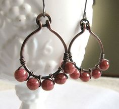 Wire Wrapped Hand Made Wire Jewelry Beaded by RubyPearlGems, $26.75