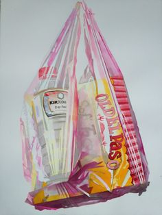 interesting packaging idea. we use too many plastic bags. Plastic gives interesting effect