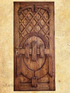 Крепкие #двери из массива дерева под старину Традиция.