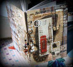 Блокнот, открытка или альбом в технике скрапбукинг
