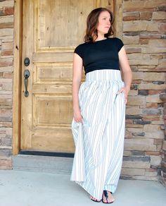 Larissa Another Day: High Waist Maxi Skirt from Bed Sheet