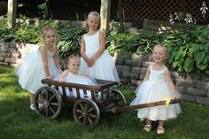Medium  Flower Girl Wedding Wagon Stained Dark Brown by Miniwagons, $245.00