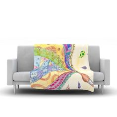 """Catherine Holcombe """"The Painted Quilt"""" Fleece Throw Blanket"""
