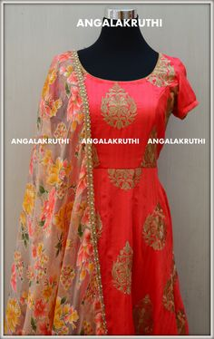 #Designer Anarkali by Angalakruti_Bangalore boutique  #Angalakruthi-Ladies and kids designer boutique in Bangalore  Custom designs with online order placement service by Angalakruthi  Watsapp:+91-8884346333