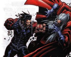 Wolverine vs. Magneto in the Age of Apocalypse