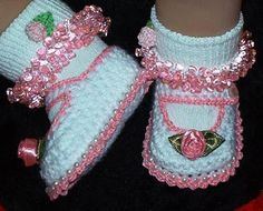 Tathy Tricot e Crochet: LINDOS SAPATINHOS DE CROCHÊ