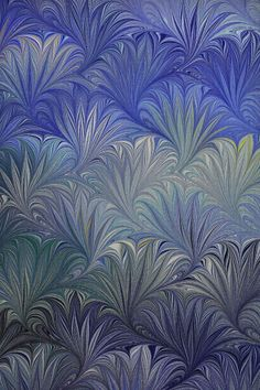 Marbled paper by Susan Pogany