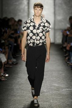 NYFW Men's Trends: BOTANICAL PRINTS (Marc by Marc Jacobs RTW Spring 2014)  [Photo by Giovanni Giannoni]