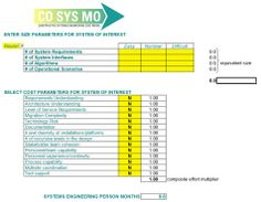 The purpose of the COSYSMO (Constructive Systems Engineering Cost Model) model is to estimate the Systems Engineering effort for large-scale systems (both software and hardware).