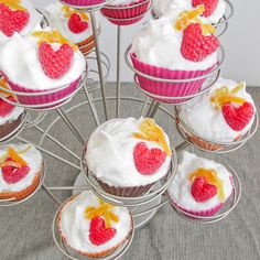 Lavender and Lemon Cupcakes with Meringue Frosting and Candied Citrus Peels