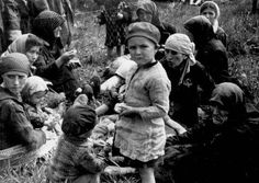 Women And Children Selected For Death, Forced To Wait In A Grove Near Gas Chamber