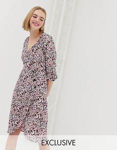 f24928a275 Linen wrap dress