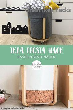 IKEA Hack: Filz Utensilo basteln statt nähen mit dem FROSTA Hocker – Keep up with the times. Ikea Closet Hack, Closet Hacks, Ikea Storage, Storage Hacks, Ikea Hacks, Ayurveda, Boy Room, Kids Room, Frosta