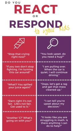 Do you #respond or #react to your kid? Make sure you do the right one! #childdevelopment