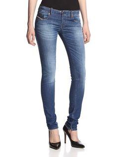 42% OFF Diesel Women's Super Skinny Jean (Dark Wash)