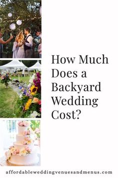 Trying to figure out the budget for your backyard wedding? How much will a backyard wedding reception cost? How much will a backyard wedding ceremony cost? See ideas for a backyard wedding on a budget, a simple backyard wedding or a small backyard wedding. Includes sample budget for a $2000 backyard wedding, a $7000 backyard wedding and a $10000 backyard wedding.<br> Rustic Wedding Colors, Rustic Wedding Backdrops, Rustic Wedding Venues, Inexpensive Wedding Venues, Backyard Wedding Dresses, Backyard Wedding Lighting, Wedding Decorations On A Budget, Wedding Reception On A Budget, Wedding Costs