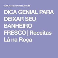 DICA GENIAL PARA DEIXAR SEU BANHEIRO FRESCO | Receitas Lá na Roça