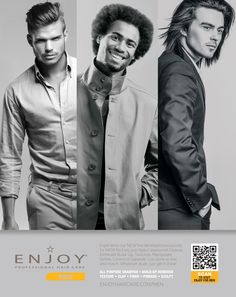 ENJOY for Men - Hair care and grooming options for him!