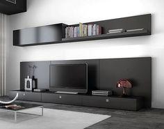 modular lcd rack panel tv moderno living progetto mobili