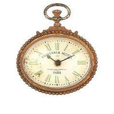 Oval Copper 5 Inch Zinc Wall Clock with Magnet....Too cute!