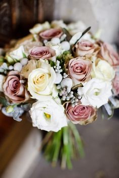 Winter wedding flowers pink | Flowers by The Fine Flowers Company