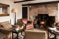 The lounge at the Tudor Farmhouse Hotel, Clearwell.