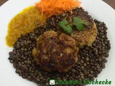 Kohlrabi-Hafer-Bratlinge auf Linsengemüse - #Rezept #vegetarisch