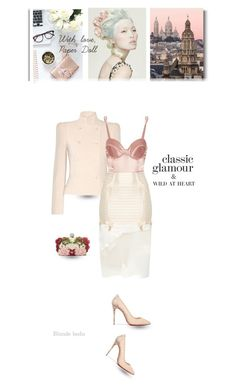 """""""There is peaceful, there is wild, I am both at the same time"""" by blonde-bedu ❤ liked on Polyvore featuring Alexander McQueen, Fleur du Mal, BEVZA, Bordelle, Christian Louboutin, Prada, women's clothing, women, female and woman"""
