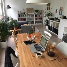 Home Office Design Apartments Bookshelves 56 Ideas Cozy Apartment, Dream Apartment, Apartment Interior, Apartment Office, One Bedroom Apartment, Apartment Living, Living Room Decor, Living Spaces, Sweet Home