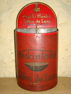 MACKINTOSH Toffee de Luxe store display tin.