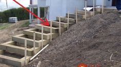 You can add DIY garden stairs with these tutorials. Outdoor stairs and garden steps lead you through your garden! Landscape Stairs, Landscape Timbers, Landscape Design, Garden Design, Sloped Yard, Sloped Backyard, Landscaping A Slope, Landscaping Ideas, Landscaping Software