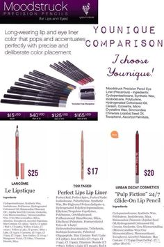 Compare other name brand liners to Younique's New Eye Liners. www.youniqueproducts.com/TracyNicole Www.Facebook.com/3DbyTracy