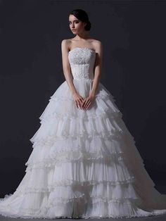 ランディブライダル ウェディングドレス プリンセス ビスチェ コートトレーン 挙式 ブライダル 結婚式 B14TB0081