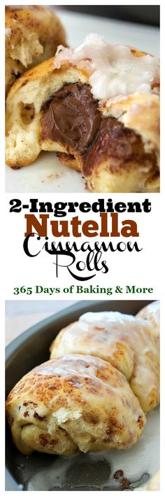 These 2-Ingredient Nutella Cinnamon Rolls are a super easy and quick breakfast treat that will be perfect for this weekend. Be sure to make a double batch!