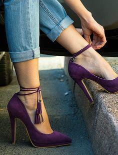 STİLETTO Leslie Mor Süet Platform Topuklu Stiletto - #nails #stiletto #stilettonails #nail
