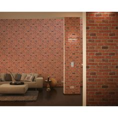 Shop for AS Creation House Brick Pattern Faux Effect Embossed Wallpaper 779816 in Red from I Want Wallpaper. Brick Effect Wallpaper, Textured Wallpaper, Brick Patterns, Wall Patterns, Wallpaper Samples, Home Wallpaper, Bleached Wood, White Wash Brick, Red Brick Walls
