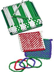 Traditional Potholder Loom and Loops. I used to love making these.