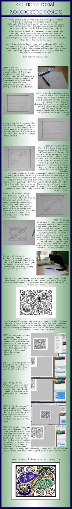 The aim of this tutorial is to show you how I plan and put together my zoomorphic animal designs based on traditional Celtic art. The advice contained can also be applicable to some Nordic art, tho...