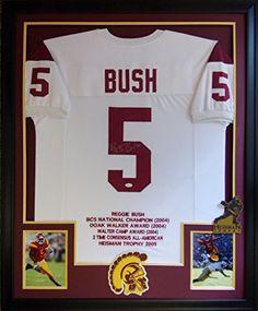 Reggie Bush Framed Stat Jersey Signed JSA COA Autographed USC Trojans  Heisman at Amazon s Sports Collectibles Store 4d85e0ce4