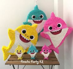 55 Ideas Baby Shark Birthday Party Girl Pinata For 2019 Birthday Pinata, Boy Birthday Parties, Baby Birthday, Birthday Ideas, Birthday Stuff, Baby Shark Doo Doo, Shark Party, Creations, Crafts
