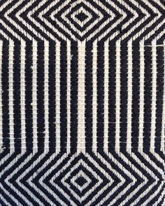 Monochrome Weaving with graphic pattern; two tone fabric sample; woven textiles design // Marianna Nello