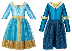 Disney Princess Merida Brave Costumes for Girls-two dress set from Disney