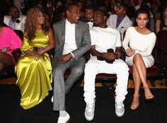 Beyonce, Jay-Z, Kim Kardashian, Kanye West (BET Awards 2012)