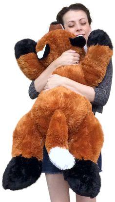 Giant Stuffed Fox 36 Inches Soft Big Plush Superior Quality Large Stuffed Animal - Big Plush Personalized Giant Teddy Bears and Custom Large Stuffed Animals