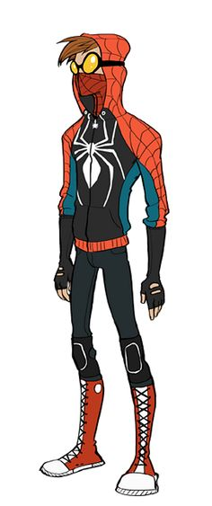 "dammit-jim-im-a-blog:   2spookytomhiddles:  boodenboodon:  hazelxfaerie:  ohmycha:  Holy crap, this is perfect. It even solves the ""what if Spiderman tore his costume"" problem.  I think I'm in love.  rad as hell  I feel like THIS is a costume a 17 year old boy would put together  i REALLY want to cosplay this  this art is by Rosy Higgins aka unassumingpumpkin"